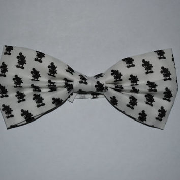 Mickey Mouse Fabric Bow