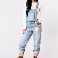 Young Lust Jumpsuit - Light Wash
