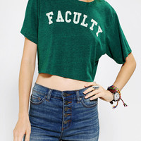 Urban Outfitters - Project Social T Faculty Cropped Tee