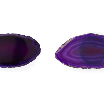 Agate Knobs, Purple, Set of 2, Cabinet & Drawer Knobs