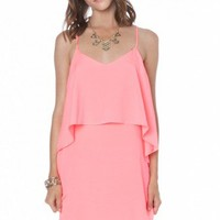Isis Dress in Neon Pink - ShopSosie.com
