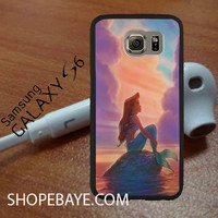 sunset ariel the little mermaid 33 For galaxy S6, Iphone 4/4s, iPhone 5/5s, iPhone 5C, iphone 6/6 plus, ipad,ipod,galaxy case