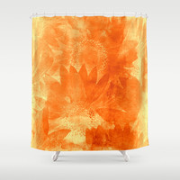 faded sunflowers Shower Curtain by Clemm