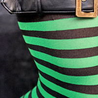 Socks » Socks » Striped Thigh High with Buckle Top « Sock Dreams