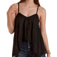 Embroidered Trapeze Tank Top by Charlotte Russe