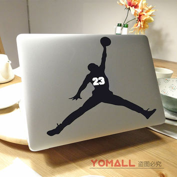 Michael Jordan 23 retro 4 Basketball Player Laptop decal sticker for Macbook Pro Air Retina 11 12 13 15 Mac notebook Cover Skin