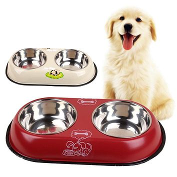 2 in 1 Pet Food and Water Bowls