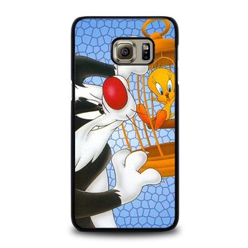 SYLVESTER AND TWEETY Looney Tunes Samsung Galaxy S6 Edge Plus Case Cover