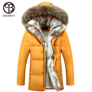 New Down Coat Long winter Jackets men Parka Hooded High Quality Warm Plus Size Duck Down Coat Natural Fur Thick Coat