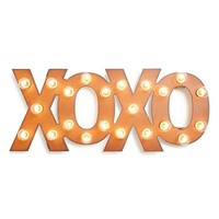 Universal Ironworks 'Marquee Lights - XOXO' Recycled Metal Sign - Metallic