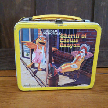 Vintage Metal Ronald McDonald Sheriff of Cactus Canyon Lunch Box
