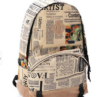 Back To School Comfort College On Sale Hot Deal Casual Stylish Korean Pattern Canvas Strong Character Backpack [6581130631]