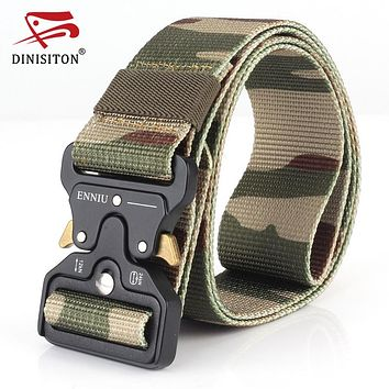 Tactical Belt Men's Military Belts Width Adjustment Quality Thicken Canvas Tactical Outdoor Waistband