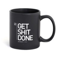 Get Shit DONE Matte Black Coffee Mug 11oz