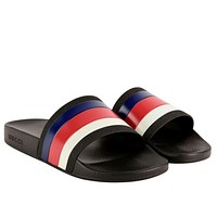 Gucci color stripe Home Furnishing slippers
