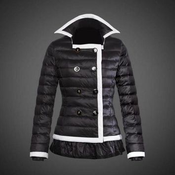 ONETOW Moncler reduced Dali low collar quilted down jacket for women black
