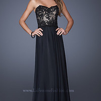 Strapless A-Line Prom Gown by La Femme