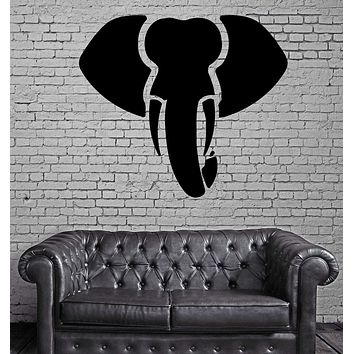 Elephant Aggressive Tribal Simbol Decor Wall MURAL Vinyl Art Sticker Unique Gift z780