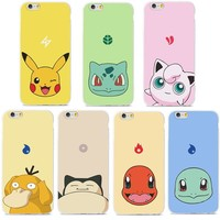 Free Pokemon iPhone Case - Pikachu, Bulbasaur, Jigglypuff, Psyduck, Snorlax, Charmander, Squirtle