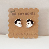 Morrissey Stud Earrings, The Smiths gift idea, cool jewelry, unique, funky, indie, 80s, moz