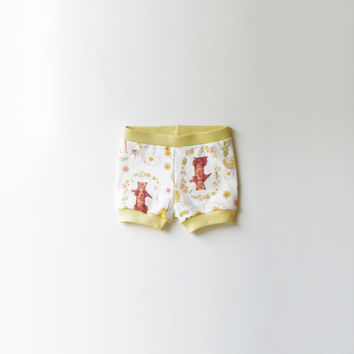 Woodland Friends Organic Baby Shorties [Stationery Bakery Collaboration]