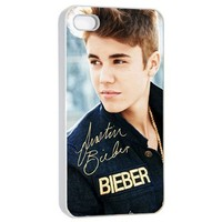 BELIEVE Justin Bieber Iphone 4 4s Photo Picture Hard Case Cover Autograph B