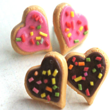 Heart Sprinkles Sugar Cookies Earrings