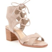 Gianni Bini Kolemann Lace-Up Block-Heel Sandals | Dillards