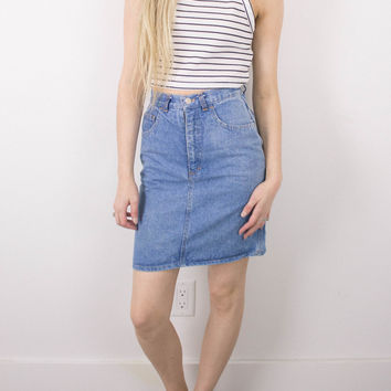 Vintage (XS) High Waisted Denim Skirt