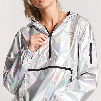 Active Holographic Graphic Windbreaker
