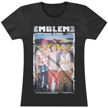 Emblem3  Sunset Group Photo Girls Jr Black Rockabilia