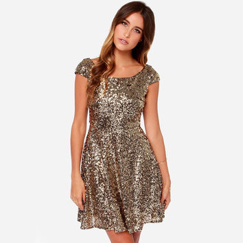 Best Short Sleeve Sequin Dress Products on Wanelo