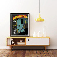 BORIS KARLOFF - FRANKENSTEIN. 1931 Classic Horror - Unique Film Poster. Limited Edition Print