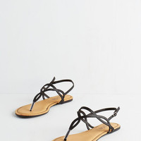 ModCloth Know Only Too Swell Sandal in Black