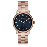 Marc by Marc Jacobs Designer Women's Watches Baker Bracelet 36MM Navy Blue Dial Women's Watch