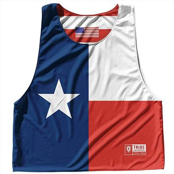 Texas State Flag and American Flag Reversible Lacrosse Pinnie