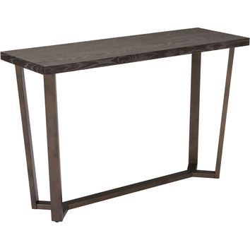 Brooklyn Console Table, Gray Oak &A.Brass