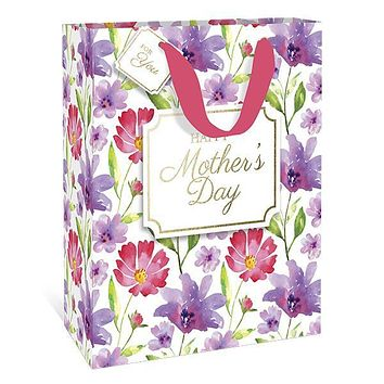 Mother's Day Watercolor Medium Gift Bag
