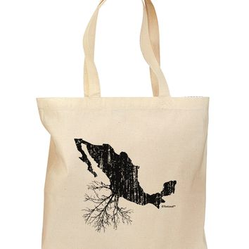 Mexican Roots Design - Distressed Grocery Tote Bag by TooLoud