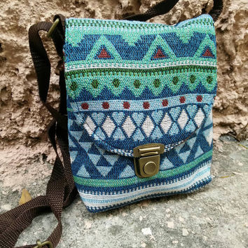 Aztec Tribal Cross body Festival Bags Purse Hand Clutch Boho Fashion Gypsy Folk Style Phone Hippies Ethnic Pouch Bohemian  Handbag Hobo Chic