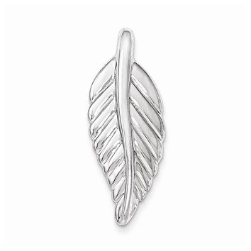 Sterling Silver Polished Feather Pendant