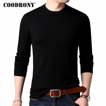 COODRONY Sweater Men Classic Pure Color O-Neck Cashmere Pullover Men Clothes 2018 Winter Thick Warm 100% Merino Wool Sweaters 04