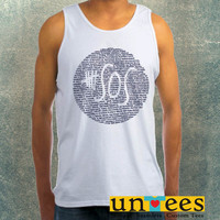 5 SOS Logo Quotes Clothing Tank Top For Mens