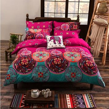 Bedding Sets King Size Bohemian Duvet Cover Set Bed Linens Quilt cover Sheet Set Bedding Bedclothes