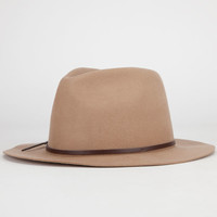 Boho Felt Womens Fedora Tan One Size For Women 24516241201