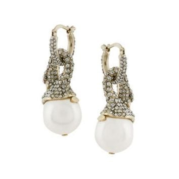 CREYONJF Lanvin Crystal-embellished Swan Earrings - Farfetch