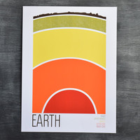 Brainstorm Prints Earth Science 5 Color Screenprint Earth Poster