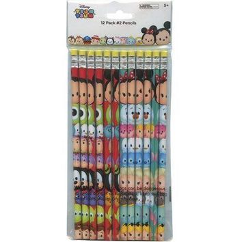 Disney Licensed Tsum Tsum 24pk Pencil in Poly Bag & Header