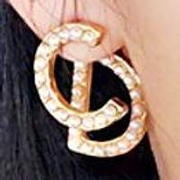 DIOR CD Fashion New More Pearl Letter Earring Accessories Women