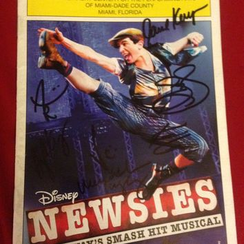 Newsies 1St National Tour - Signed Playbill Miami